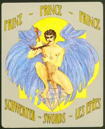 Deva Tarot - Božanski Tarot - Mačevi : Princ mačeva