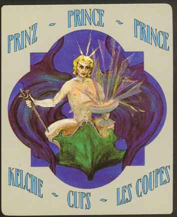 Deva Tarot - Božanski Tarot - Pehari: Princ pehara