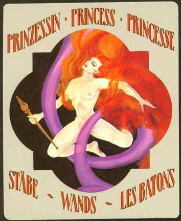 Deva Tarot - Božanski Tarot - Štapovi: Princeza štapova