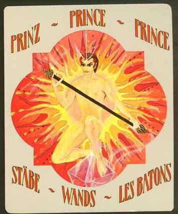 Deva Tarot - Božanski Tarot - Štapovi: Princ štapova