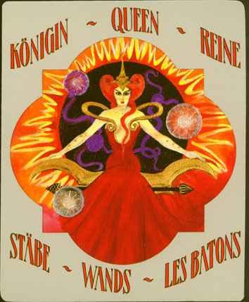 Deva Tarot - Božanski Tarot - Štapovi: kraljica štapova