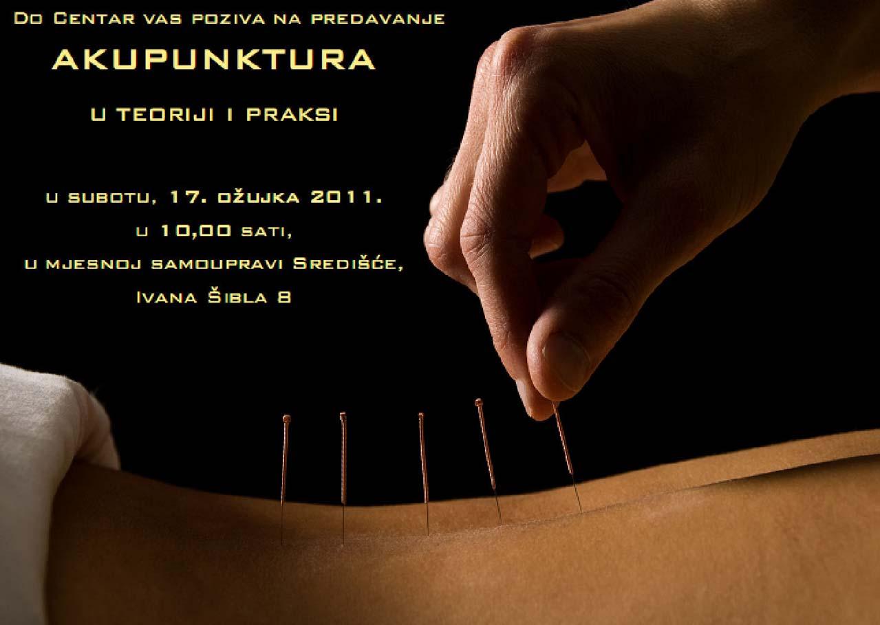 Predavanje; Akupunktura u teoriji i praksi