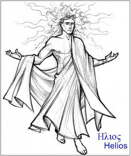 Helije – bog Sunca, brat Selene i Eose