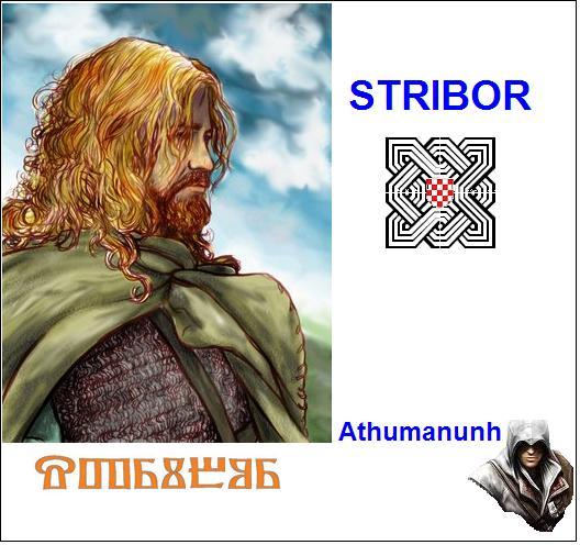 Stribor (Borna) – božanski vjetrovnik bojovnik