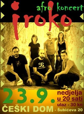 IROKO koncert - 23.9. Češki Dom