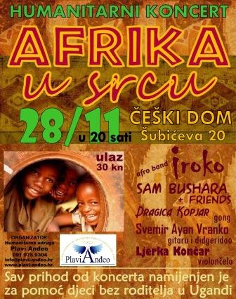 IROKO na humanitarnom koncertu AFRIKA U SRCU - 28.11