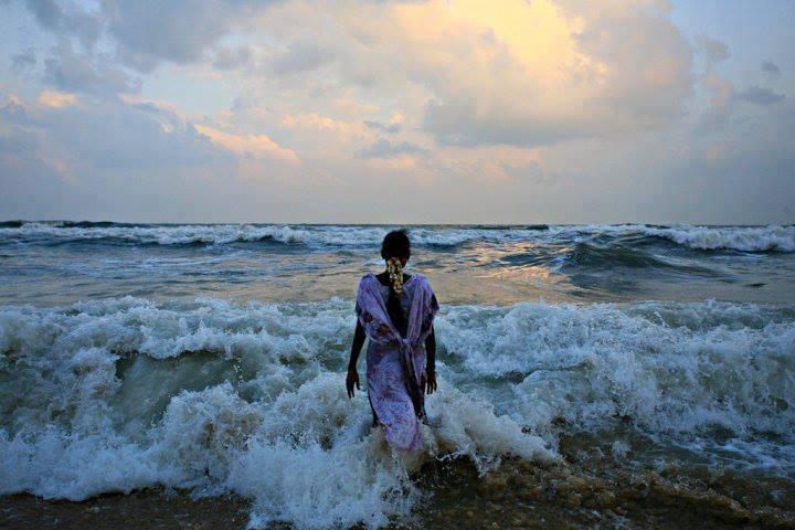 Aquamarine lady