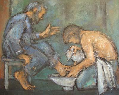 Vraćanje smislu poniznosti ( Učitelj pere noge Petrici)