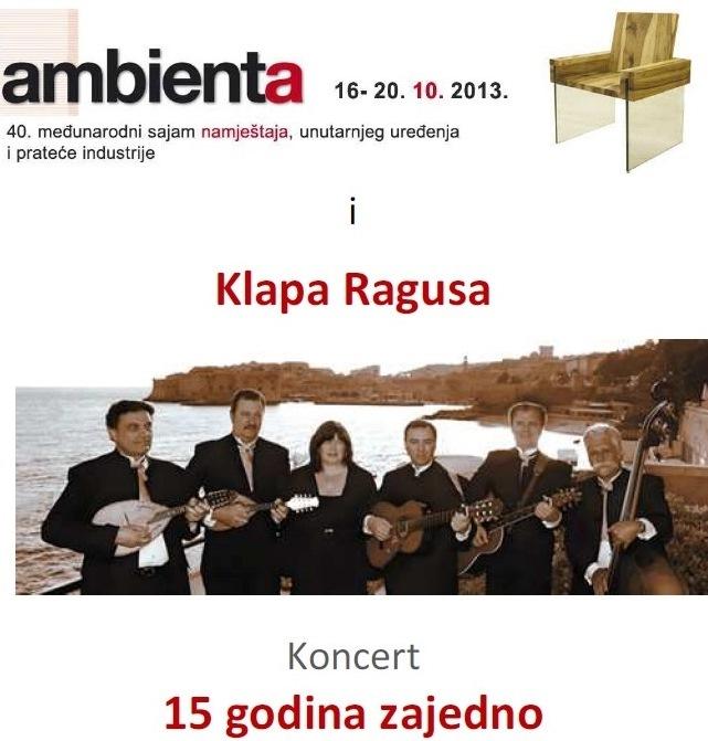 Ambienta: brzopotezna nagradna igra - ulaznice za sutrašnji koncert klape Ragusa