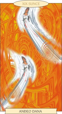 ANĐEOSKI TAROT:  SUNCE - Anđeo dana