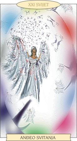 ANĐEOSKI TAROT: SVIJET - Anđeo svitanja