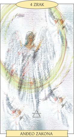 ANĐEOSKI TAROT:  4 ZRAK - Anđeo zakona