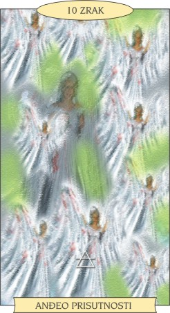 ANĐEOSKI TAROT:  10 ZRAK - Anđeo prisutnosti