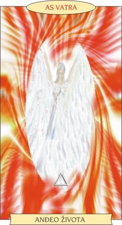ANĐEOSKI TAROT:  AS VATRA - Anđeo života