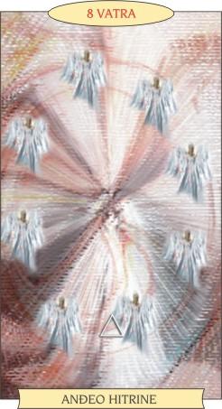 ANĐEOSKI TAROT:  8 VATRA - Anđeo hitrine