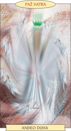 ANĐEOSKI TAROT:  PAŽ VATRA - Anđeo duha