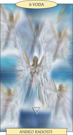 ANĐEOSKI TAROT:  6 VODA - Anđeo radosti