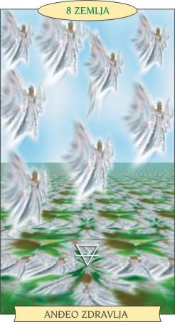 ANĐEOSKI TAROT:  8 ZEMLJA - Anđeo zdravlja