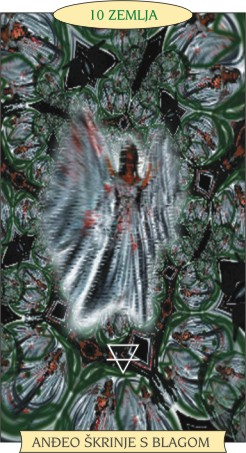 ANĐEOSKI TAROT:  10 ZEMLJA - Anđeo škrinje s blagom