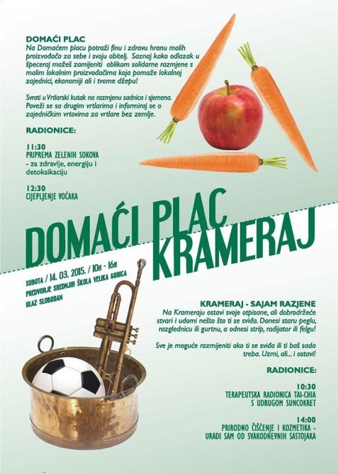 VELIKA GORICA: Domaći plac & Krameraj, subota 16.5.2015. 9-14h