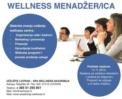 Upisi na program za Wellness menadžera/icu
