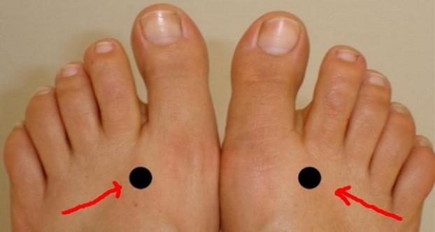 Pritisnite ove tačke i dva minuta ne podižite prst sa njih. Rezultat je odmah vidljiv. NEVJEROVATNO!