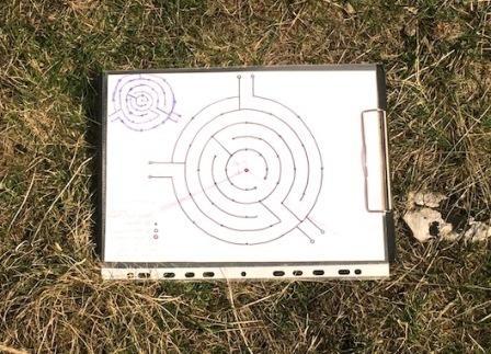 Izgradnja labirinta na land art stazi