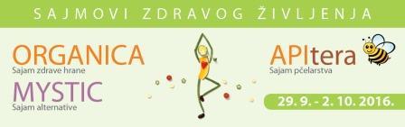 Sajmovi zdravog življenja - Organica, Mystic i APItera 2016.g.