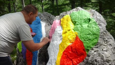 Oslikavanje Ljubavnog kamena