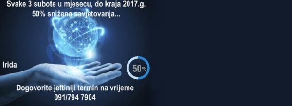 Veliki popust od 50%, svake 3 subote u mjesecu, na sva savjetovanja, do kraja 2017.g.