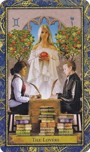 Čarobnjački tarot - Ljubavnici (Učitelj ljubavi i komunikacije)