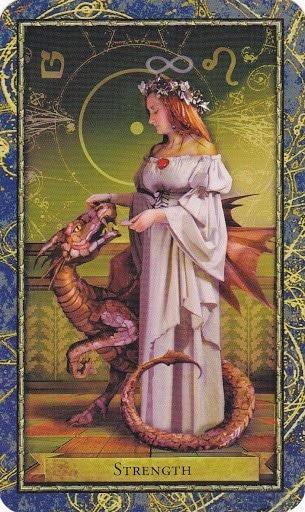 Čarobnjački tarot - Snaga (Zaštitnica stvorenog svijeta, prirode, biologije i životinja)