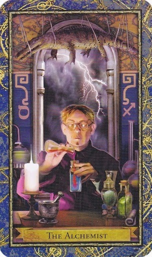 Čarobnjački tarot - Alkemičar (XIV - umjerenost u RW) – (Profesor alkemije)