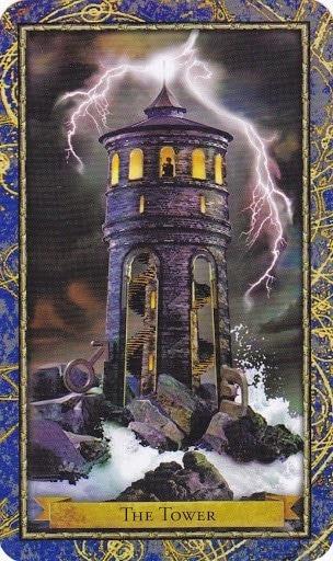Čarobnjački tarot - Kula (Vodič kroz krizu, Karmički sud)