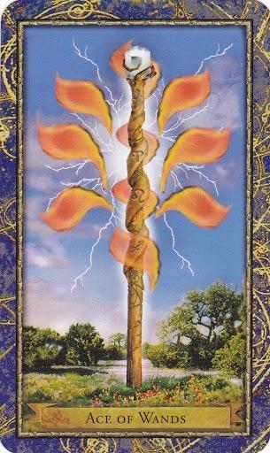 Čarobnjački tarot - As štapova (Snaga čuda)