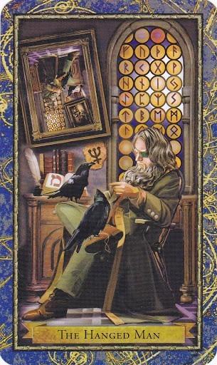 Čarobnjački tarot - Obješen (Majstor za rune)