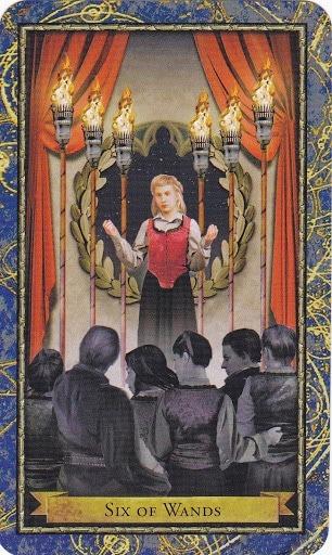 Čarobnjački tarot - 6 štapova (Snaga čuda)