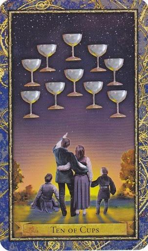Čarobnjački tarot - 10 pehara (Snaga čuda - ljubav, bliskost)