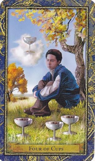 Čarobnjački tarot - 4 pehara (Snaga čuda)