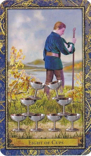 Čarobnjački tarot - 8 pehara (Snaga čuda)