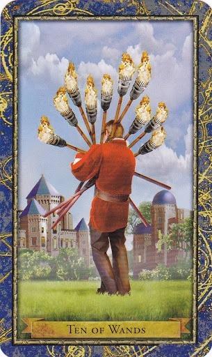 Čarobnjački tarot - 10 štapova (Snaga čuda)