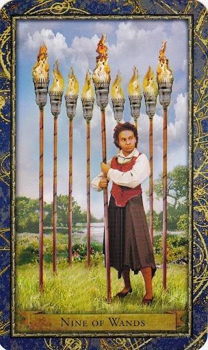 Čarobnjački tarot - 9 štapova (Snaga čuda)