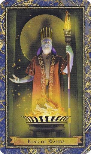 Čarobnjački tarot - Kralj štapova (Vladar Vatre)