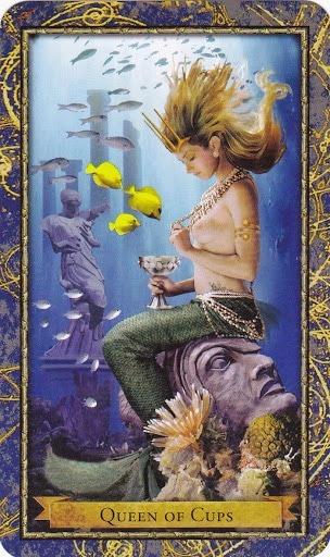 Čarobnjački tarot - Kraljica pehara (Zaštitnica voda - izgubljeni predmeti i blaga)