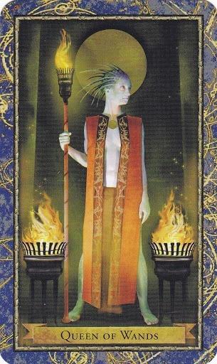 Čarobnjački tarot - Kraljica štapova (Čuvarica Vatre)