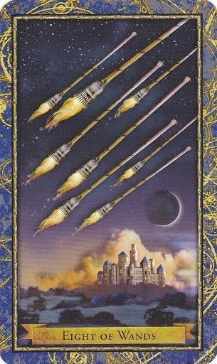 Čarobnjački tarot - 8 štapova (Snaga čuda)