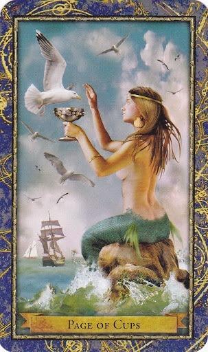 Čarobnjački tarot - Paž pehara (Glasnica vode)