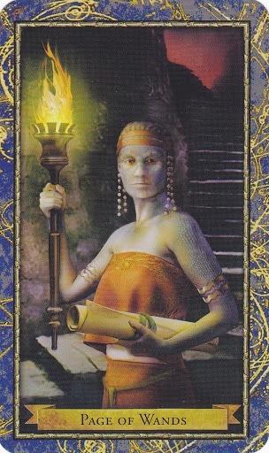 Čarobnjački tarot - Paž štapova (Poslanik vatre - glasnik i učenik vatre)