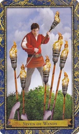 Čarobnjački tarot - 7 štapova (Snaga čuda)