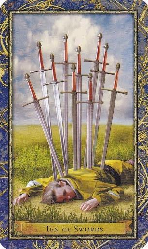 Čarobnjački tarot - 10 mačeva (Snaga čuda)